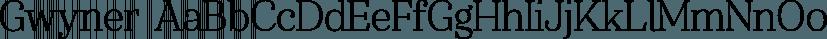 Gwyner font family by Typomancer