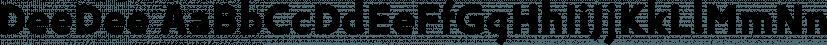 DeeDee font family by TipografiaRamis