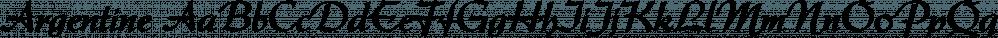 Argentine font family by FontSite Inc.