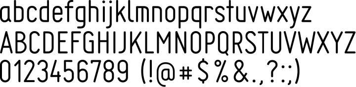 Engineer Font Specimen