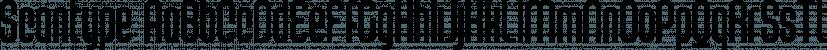 Scantype font family by Måns Grebäck