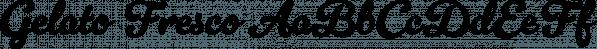 Gelato Fresco font family by Schizotype Fonts