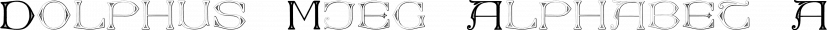 Dolphus-Mieg Alphabet font family by Intellecta Design