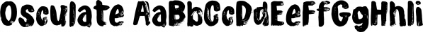Osculate font family by Bogstav