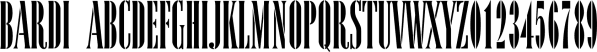 Bardi font family by ParaType
