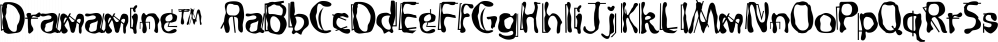 Dramamine™ font family by MINDCANDY