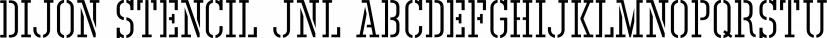 Dijon Stencil JNL font family by Jeff Levine Fonts