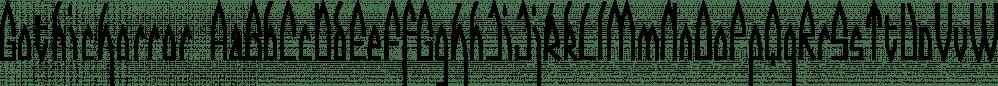GothicHorror font family by Ingrimayne Type