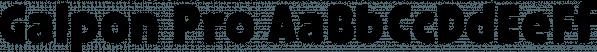 Galpon Pro font family by Rodrigo Typo