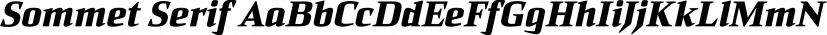 Sommet Serif font family by Insigne Design