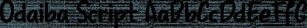 Odaiba Script font family by Hanoded