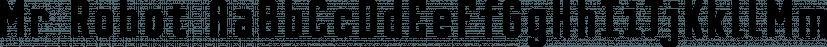 Mr Robot font family by Hipopotam Studio