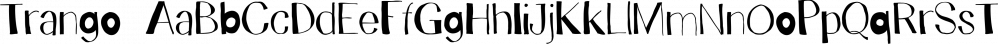 Trango font family by Juraj Chrastina