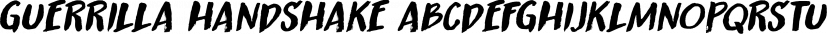 Guerrilla Handshake font family by Hanoded