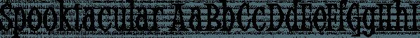 Spooktacular font family by Aiyari