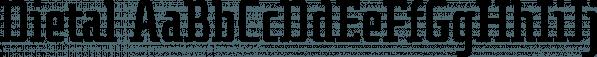 Dietal font family by Tour de Force Font Foundry