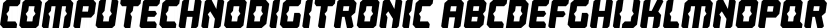 Computechnodigitronic font family by Typodermic Fonts Inc.