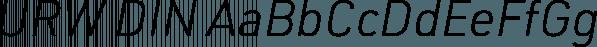 URW DIN font family by URW Type Foundry