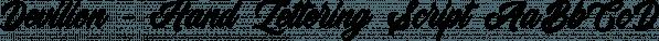 Devilion - Hand Lettering Script font family by Letterhend Studio