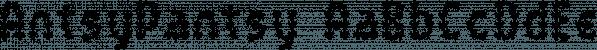 AntsyPantsy font family by Ingrimayne Type