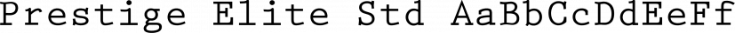 Prestige Elite Std font family by Adobe