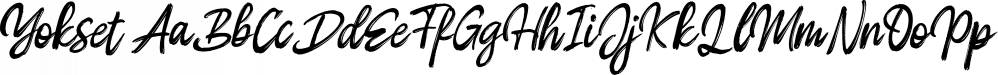 Yokset font family by Dhan Studio