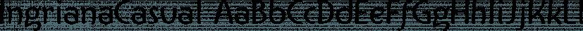 IngrianaCasual font family by Ingrimayne Type