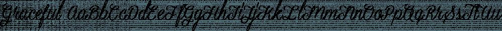 Graceful font family by Artimasa