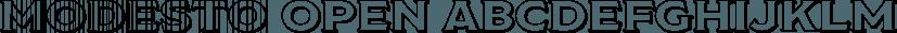 Modesto Open font family by Parkinson Type Design