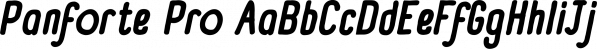 Panforte Pro font family by Zetafonts
