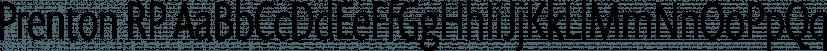 Prenton RP font family by BluHead Studio