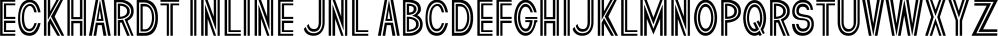 Eckhardt Inline JNL font family by Jeff Levine Fonts