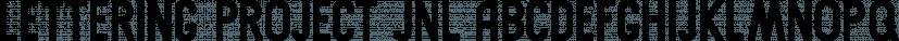 Lettering Project JNL font family by Jeff Levine Fonts