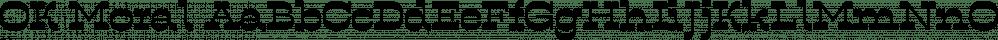 OK Moral font family by Tour de Force Font Foundry