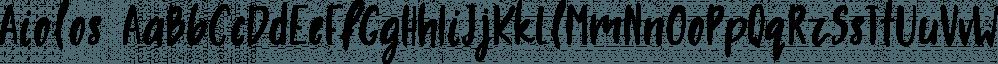 Aiolos font family by Konstantina Louka