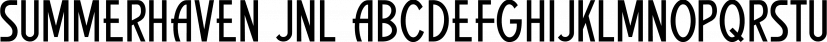 Summerhaven JNL font family by Jeff Levine Fonts