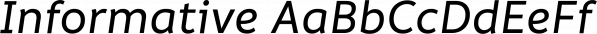 Informative font family by Latinotype