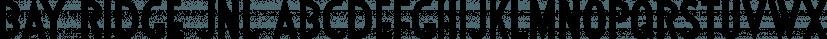 Bay Ridge JNL font family by Jeff Levine Fonts