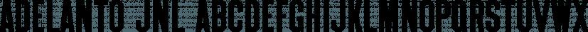 Adelanto JNL font family by Jeff Levine Fonts