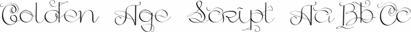 Golden Age Script font family by Vladfedotovv