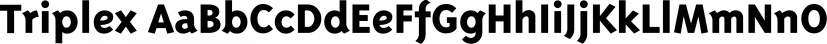 Triplex font family by Emigre
