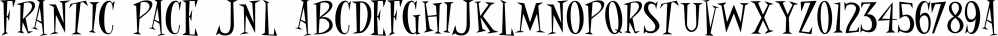 Frantic Pace JNL font family by Jeff Levine Fonts