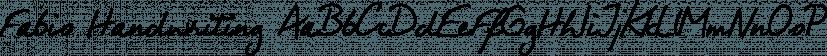 Fabio Handwriting font family by SoftMaker