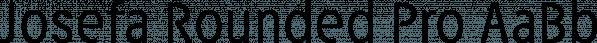Josefa Rounded Pro font family by ingoFonts