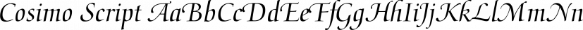 Cosimo Script font family by FontSite Inc.