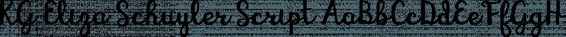 KG Eliza Schuyler Script font family by Kimberly Geswein Fonts