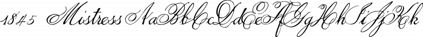 1845  Mistress font family by GLC Foundry