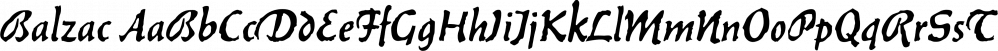 Balzac font family by SoftMaker