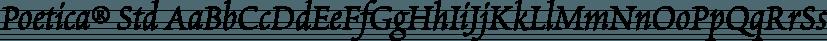 Poetica® Std font family by Adobe