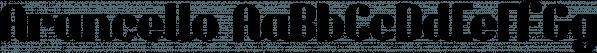 Arancello font family by Hanoded